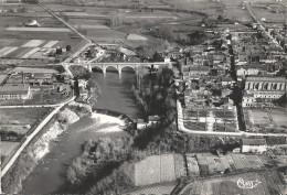 CPSM Mazères - Vue Aérienne - Pont Et Chaussée De L´Hers - Frankrijk