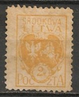 Timbres - Lituanie - 1920 - Lituanie Centrale - 2 M. - - Lituanie