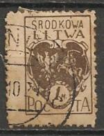 Timbres - Lituanie - 1920 - Lituanie Centrale - 1 M. - - Lituanie