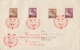 Böhmen Und Mähren Brief Mif Minr.2x 24, 2x 64 Roter SST Prag 14.8.41 Viktoria !! - Besetzungen 1938-45