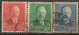 Timbres - Lituanie - 1934 - Série De 3 Timbres - - Lituanie