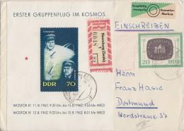 DDR R-Brief Mif Minr.Block 17, 923 Gel. Nach Dortmund - DDR