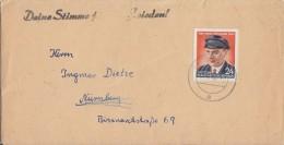 DDR Brief EF Minr.432 Mit Propagandast. Deine Stimme Für Den Frieden - Briefe U. Dokumente