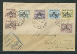 VATICAN  N° 85 A à 85 G Obl. S/Lettre Entiére - Lettres & Documents