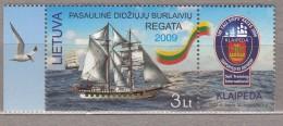 LITHUANIA 2009 Worldwide Regatta Klaipeda Sailing Ships MNH Mi 1018 #2384 - Lituanie