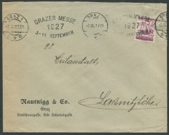 ÖSTERREICH / Brief Von Graz Nach Laßnitzhöhe Vom 02.IX.27 Mit ANK 456 - Briefe U. Dokumente