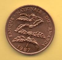 RWANDA - 5 Francs 1987 SC  KM13 - Rwanda