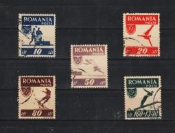 1946 - Sports Populaires O.S.P Mi No 1000A/1004A Et Yv 916/920 Danteles - Usado