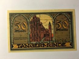 Allemagne Notgeld Tangermunde 50  Pfennig 1921 NEUF - [ 3] 1918-1933 : République De Weimar