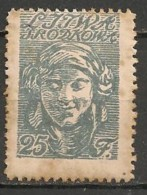 Timbres - Lituanie - 1920 - Lituanie Centrale - 25 F - - Lituanie