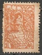 Timbres - Lituanie - 1920 - Lituanie Centrale - 1 M - - Lituanie