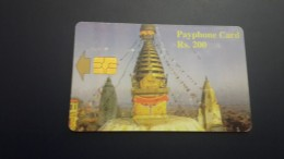 Nepal-nep-tele-04-tample 3-(rs.200)-used Card+1card Prepiad Free - Nepal