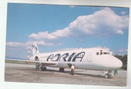 YUGOSLAVIA Postcard ADRIA AIRWAYS Airline DOUGLAS DC8 AIRCRAFT Aviation Flight - 1946-....: Modern Era
