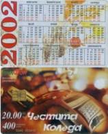 Telefonkarte Bulgarien - BulFon - Werbung   - 400 Units  -  Kalender 2002 - Bulgarien