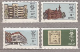 LITHUANIA 1993 Stamps On Stamps Post Offices MNH Michel 540-543 #2403 - Lituanie