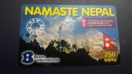 Nepal-namaste Nepal Logo Cellcom(250units)-used Card+1card Prepiad Free - Népal
