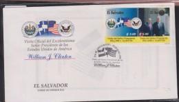 O) 1999 EL SALVADOR, PRESIDENT OF USA WILLIAM J. CLINTON - PRESIDENT ARMANDO CALDERON, VISIT, FDC XF - El Salvador