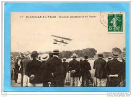 MARSEILLE- AVIATION -1909-descente Sensationnelle-Aviateur Ficher-au Parc Borely-gros Plan- A Voyagé En 1908 - Reuniones
