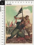 BOCCASILE 1943 -La Disperata -viaggiata - PNF Dopolavoro  Forze Armate - Guerra 1939-45