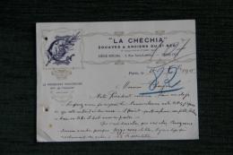 """Carte De Visite Du Président Honoraire De """" LA CHECHIA"""", Zouaves Et Anciens Du 3 ème Régiment, 4 Octobre 1915 - Visiting Cards"""