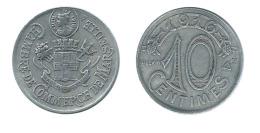 N2389 - Marseille: Chambre De Commerce: 10 Ct 1916 - Monetary / Of Necessity