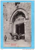 PALESTINE-JERUSALEM-Porte De David -sortie De Caravane De Chameaux- Carte D'époque-Années 10-20 - Palestine