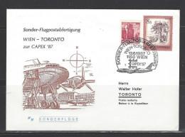 ÖSTERREICH - Sonder-Flugpostabfertigung Wien - Toronto Zur CAPEX ´87 - 13.6.1987 - Airmail
