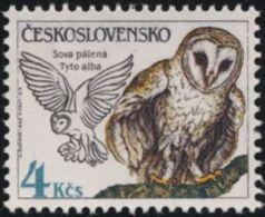 Czechoslovakia / Stamps (1986) 2761: Protecting Nature - Birds (Tyto Alba); Painter: Hana Capova - Arte