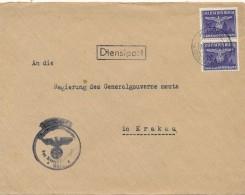 KIELCE  - 1944 , Dienstbrief Nach Krakau-  -  Big Letter, Dispatch = 4,20 EURO - Occupation 1938-45