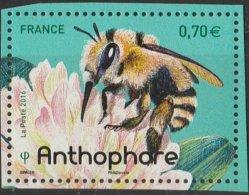 France 2016 - Neuf - Les Abeilles Solitaires - Anthophare (timbre De BLOC) - Neufs