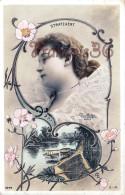 Jolie Fille / Frau / Lady - Jeune Femme Artiste Stratzaert Par Reutlinger Artist Théatre Paris Art Nouveau - Artistes