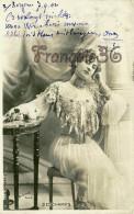 Jolie Fille /young Lady - Jeune Femme Artiste DESCHAMPS Par Reutlinger /artist Theatre Paris 1902 - Entertainers