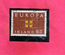 ISLANDA ICELAND ISLANDE 1959 EUROPA CEPT UNITA Kr 6 6k USATO USED OBLITERE´ - Usati
