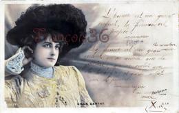 CPA Jolie Fille / Frau / Lady - Jeune Femme Artiste GILDA DARTHY Reutlinger / 1903 Théatre Paris / Citation Proverbe - Entertainers