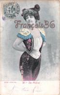 CPA Jolie Fille / Frau / Lady - Jeune Femme Artiste Mlle De Pebrel / Alterocca Terni Théatre Paris 1906 - Artisti