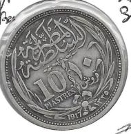 *egypte 10 Piastres 1917    Km 319  Vf+ - Egipto