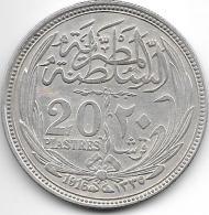 *egypte 20 Piastres 1916    Km 321    Vf+ Catalog Val 112,00$ - Egypte