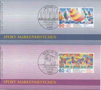 2 Sporthilfe Markenheftchen 1987 Mit Je 6 Marken (ESSt Bonn/Berlin) - 2 Booklets With 6 Stamps Each  - ESSt Bonn/Berlin - [7] République Fédérale