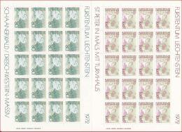 4016d: Liechtenstein Ex 1971- 1973: Kleinbögen Freimarken Landschaften ** Postfrisch - Blocks & Kleinbögen