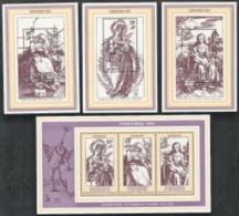 Penryn,  Scott 2016 # 186a  + 187-189,  Issued 1981,  S/S Of 3 + 3 S/S Of 1,  MNH,  Cat $ 6.55,  Christmas - Penrhyn