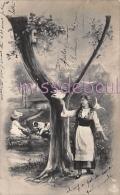 Y - Lettre Alphabet - Femme Enfant - Branche D´arbre - MUSTERSCHULTZ  - 1904 -  2 Scans - Other Illustrators