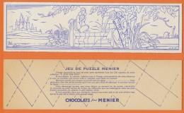 PUZZLE à Colorier Et à Découper - CHOCOLAT MENIER - Menier