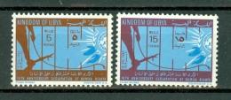 Libië 1963 Yv 225/26**, Sc 237/238**, 15th Anniv. Of Human Rights  MNH - Libye