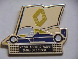 Pin´s - Votre Agent RENAULT Dans La COURSE - F1 - Renault