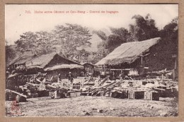 INDOCHINE - 715 - HALTE ENTRE CHOMOI ET CAO BANG - CONVOI DE BAGAGES - éditeur Dieulefils - Vietnam