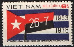 VIETNAM - 1978 - 25° ANNIVERSARIO DELLA RIVOLUZIONE CUBANA - USATO - Vietnam