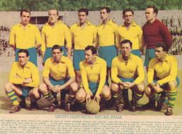 ESTORIL PRAIA Grupo Desportivo (CASCAIS). Foto Gravura JOGADORES Futebol. 1951 Poster Football PORTUGAL - Football