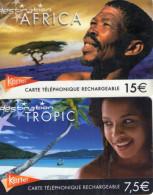 CARTES PREPAYEES KERTEL *7,5e  *15e  *Afrique *Tropic  (lot De 2) / - Prepaid Cards: Other