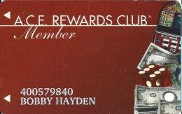 ACE Rewards Casino Slot Card - (I) Over 12.5mm Brown Mag Stripe - Casino Cards