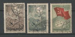 Expédition Aérienne Au Pole Nord Yt 617-619 - 1923-1991 USSR